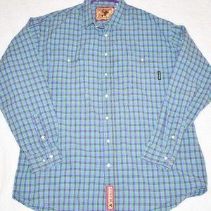 Mens Cinch Diamond Pearl L/S Shirt Sz LG